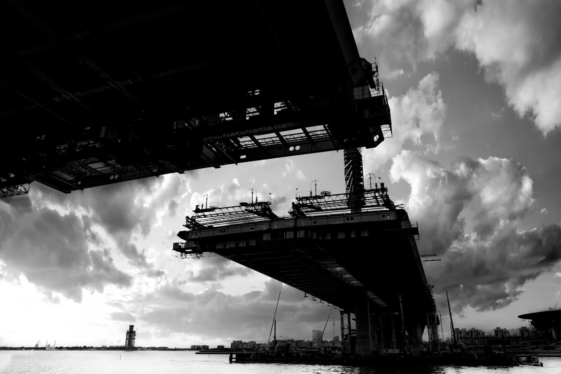 construction bridge crossing